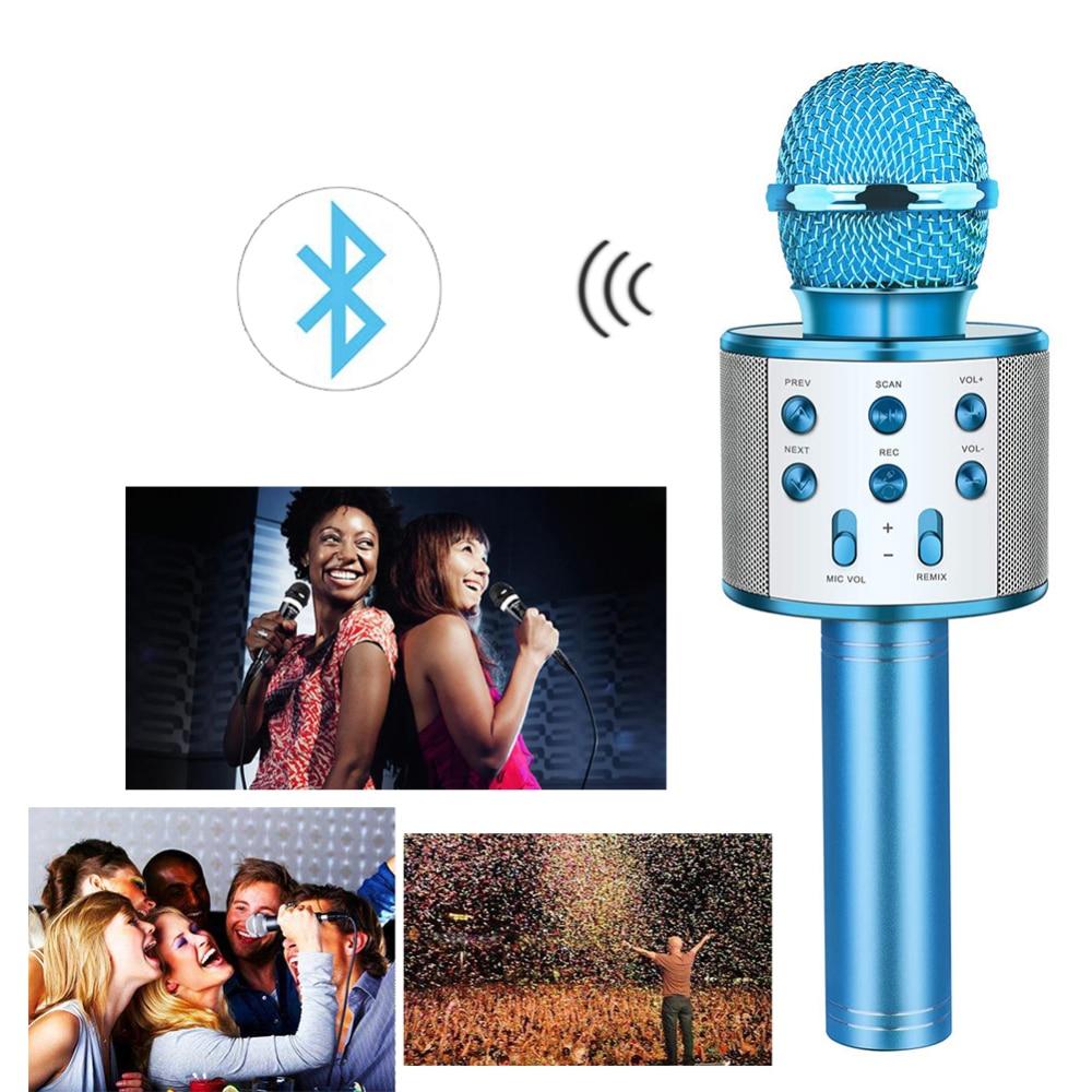 KTV Sing Karaoke OK Microphone Wireless Bluetooth Microphones With Speaker Mini Home Outdoor KTV For Iphone Samsung