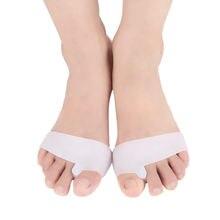 1 par de dedos do pé dedo do pé separador polegar valgus protetor bunion ajustador hallux valgus guarda separador de los tortas