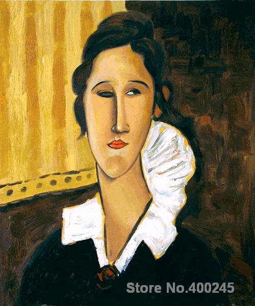 Christmas Gift art on Canvas Portrait of Anna Zborovska by Amedeo Modigliani Painting High Quality Handmade