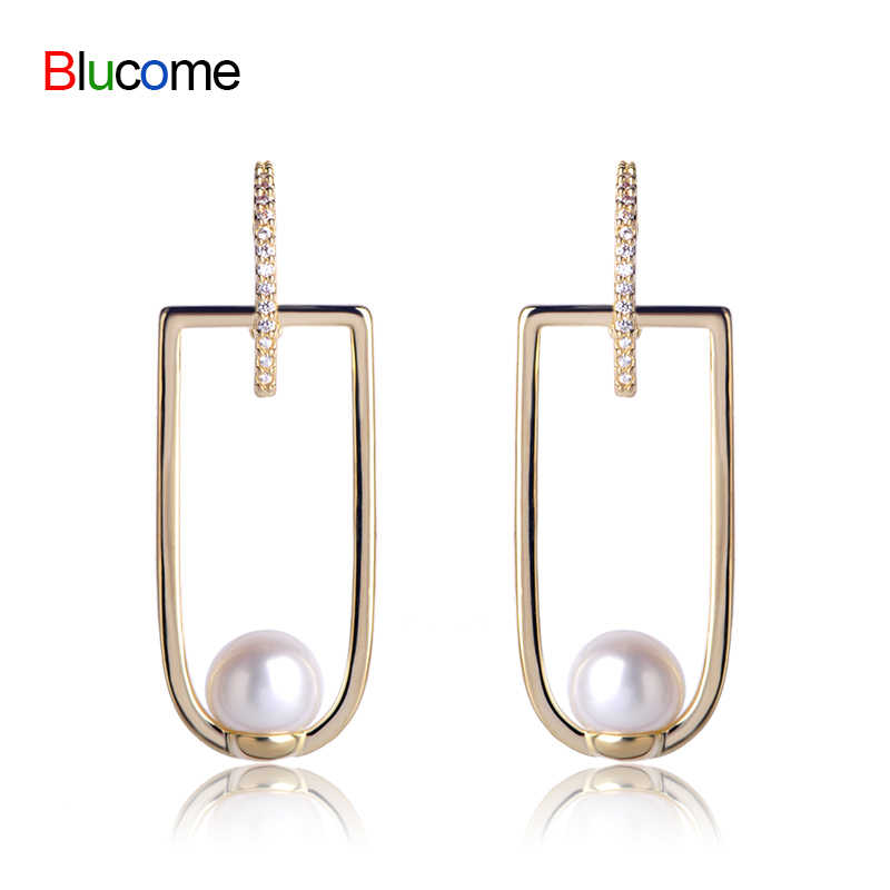 Fashion women Stud Earrings with Simulated Pearl gold ice cream Ear Accessories Women Wedding Banquet Party Gifts Decoration