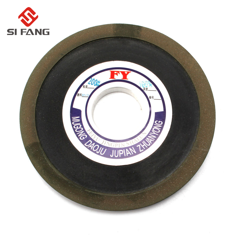 125MM 100%  Bakelite Resin Tapered  Diamond Grinding Wheel To Grind Carbide Hard Steel 32MM Bore200 Grit 100%