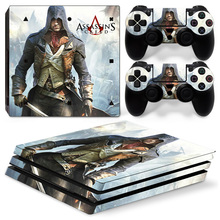 Assassins Creed Skin Sticker For Sony Playstation 4 Pro Game Console Decal  Skin + 2PCS Controller d14044c3bc1