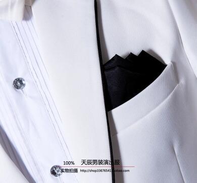 Marié Hommes Cravate Vêtements De Robe Chanteur Ensemble Star Danse Mariage Blanc Scène Un Costumes Pour Formelle Style Pantalon Costume Avec xH0Cqwa