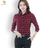 Big Size XXXL Women Blouse Spring Summer Long Sleeve Turn Down Collar Lattice Printed Casual Embroidery