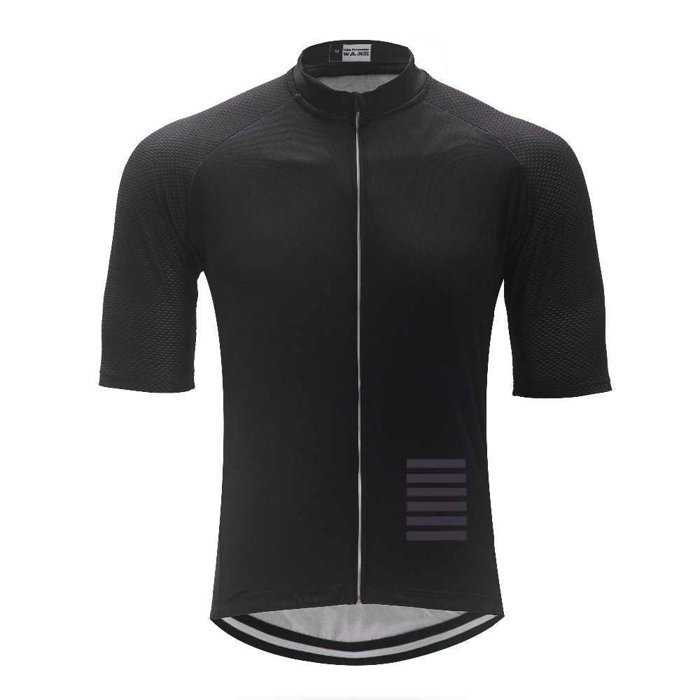 Rockthrill כל שחור איטליה מיטי בד Mens פרו צוות AERO מירוץ רכיבה על אופניים ג 'רזי כביש Mtb קצר שרוול אופני אופני חולצה הילוך 2018