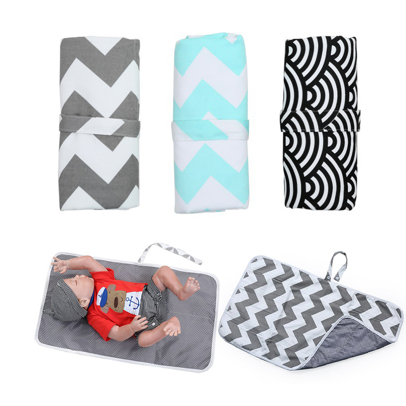 Cotton Baby Changing Mat Portable Travel Nappy Diaper Changer Waterproof Baby Crib Sheet Mattress Floor Mats Diaper Changing Pad