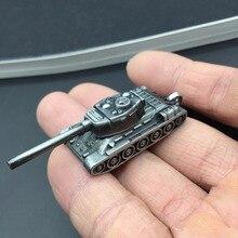 Fashion World Of Tanks Keychain Men Vintage Silver Game WOT Tank Key Chain Bag Charm Key Ring Male Souvenir Gift Jewelry Trinket