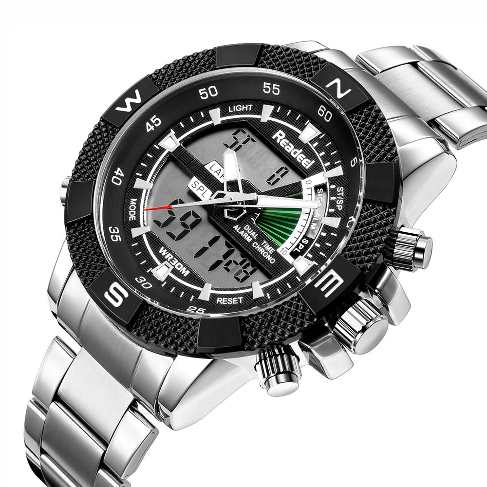 Readeel Fashion Digital Quartz Mens Sports Watches Top Brand Luxury Waterproof Military LED Quartz Watch Relogio Masculino