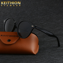 KEITHION Brand Design Sunglasses women Mens Polarized Vintage Round  Fashion Driving Outdoor Eyewear