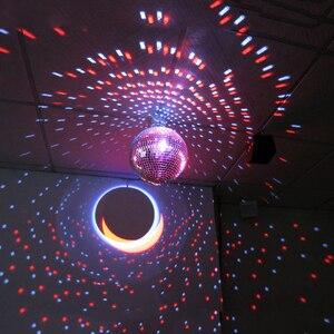 Image 3 - BEIAIDI Dia20CM 25 سنتيمتر 30 سنتيمتر زجاج مرآة كرات ديسكو DJ الكرة مع المحرك و شعاع RGB Pinspot DJ المنزل حفلة ديسكو DJ ضوء المرحلة