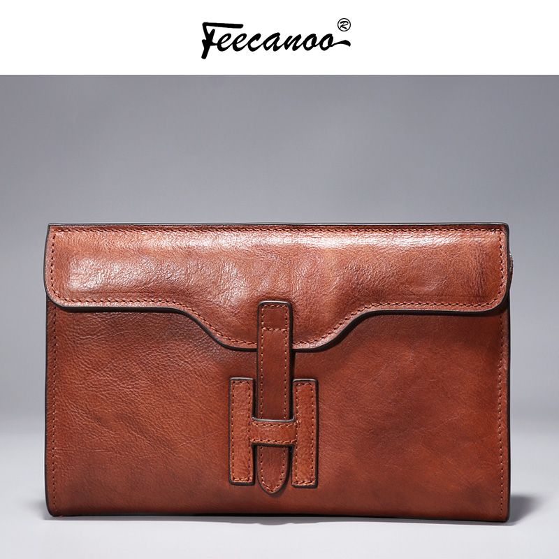 FEECANOO Wallet Male Genuine Leather Men's Wallets for Credit Card Holder Clutch Male bags Coin Purse Men Genuine leather westal wallet male genuine leather men s wallets for credit card holder clutch male bags coin purse men genuine leather 9041