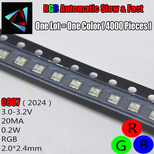 Image 1 - 3000Pcs 0807 Slow And Fast Flashing RGB SMD Led Lamp 0805 RGB Slow Fast Flash Diode Colorful Diodes DIY