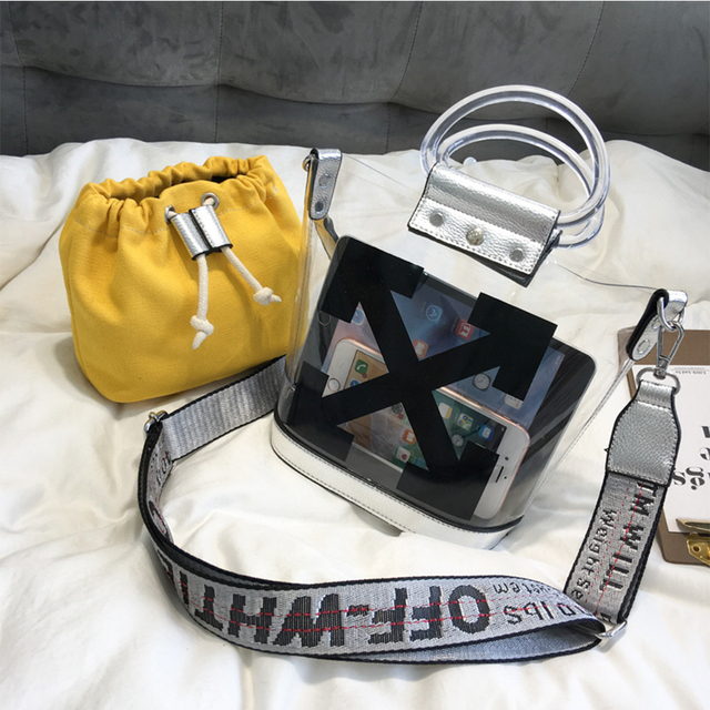 Luxury Handbags Jelly New Single Handbag Women Bags Designer Fashion Transparent Bags for Women 2019 Purse Solid Large Capacity