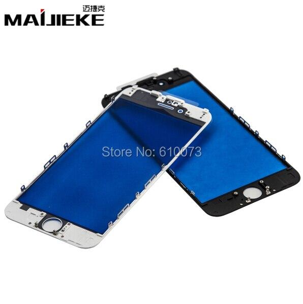 imágenes para MAIJIEKE AAA + Para el iphone 7 6 6 s más Reemplazos Marco de Vidrio para el iphone 5 5c 5S Panel Táctil De Cristal Frontal Marco Medio bisel