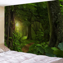 Tapestry Landscape Green Forest Wall Hanging tapestry for Home Decor Plus Large Size Free Shipping
