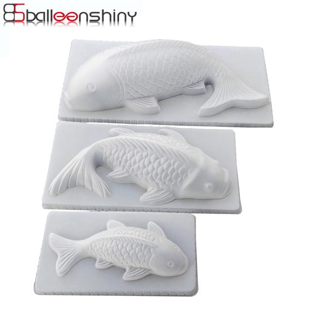 Balleenbright moule 3D carpe de poisson Koi   Bricolage, gelée en plastique, artisanat de sucre, moule gâteau Pudding chocolat, outil de cuisson, vaisselle