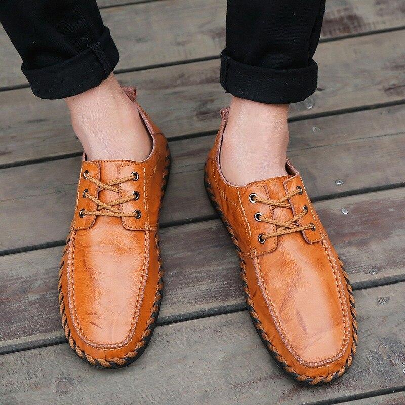 Luxe Black Mode Casual Homme Pour Nouveau 2018 Mocassins Brown Designer En red Hommes Brown De yellow Cuir Marque Plat Lacent Chaussures qIax0w