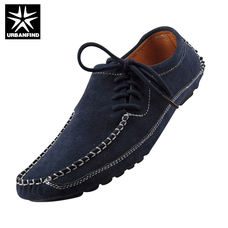 URBANFIND Men Suede Leather Shoes Casual Footwear EU Size 39-47 Comfortable & Soft Rubber Sole Man Driving Shoes camssoo new running shoes men soft footwear classic men sneakers sports shoes size eu 39 44 aa40375