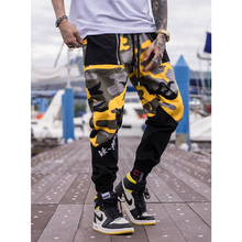 UNCLEDONJM Streetwear camouflage cargo pants pantalon homme camo colour block joggers men hip hop trousers tactical 066W