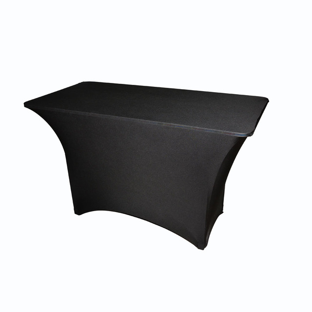 33713b6f8826 Wholesale Black White Spandex 6 Ft Rectangular Stretch Tablecloth Table  Cover Hotel Banquet Wedding Party