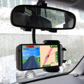 Free Shipping Durable Universal 360 Swivel Car Rearview Mirror Mount Holder Cradle For Cell Phone GPS  Android Phone Accessories