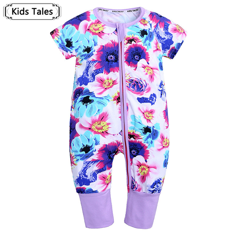 2019 Newborn baby clothes Cotton Short Sleeve Summer Baby   Rompers   Soft Infant Clothing toddler baby boy girl clothes SR420