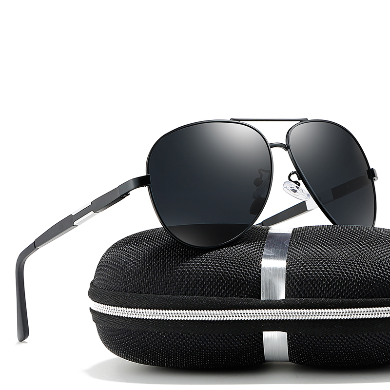 2018 Man Black Blue Silver Colors Polarized Goggle UV400 Sunglasses With Box Free Shipping
