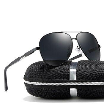 2018 Uomo Nero/Blu/Argento Colori Polarizzati Goggle UV400 Occhiali Da Sole Con La Scatola Spedizione Gratuita