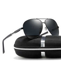 2018 homme noir/bleu/argent couleurs polarisées lunettes de soleil UV400 lunettes de soleil avec boîte livraison gratuite
