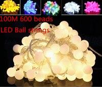Fairy 100m 600 LED luminaria decoration Garland ball string lights christmas new year holiday party wedding luminarias lamps