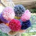 """30pcs 4"""" 6"""" 8""""(10cm 15cm 20cm) decorative Tissue Paper Pom Poms Mix Color Flower Balls Pompom for Wedding party home Decoration"""