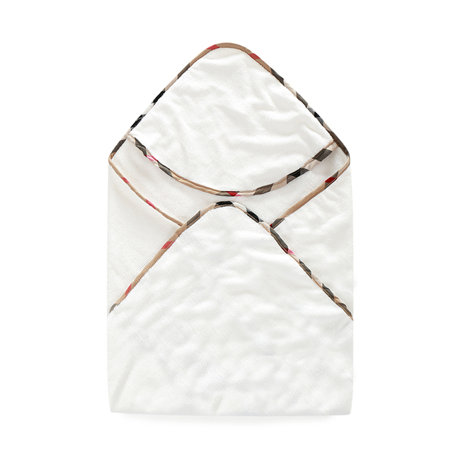 2019 New arrival Baby Hooded lattice Bath Towel cotton Baby boy girl Bathrobe Infants newborn baby receiving blankets clothes