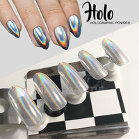 1g Box Rainbow Shinning Mirror Nail Glitter Powder Perfect Holographic Nails Dust Laser Holo Nails Pigment