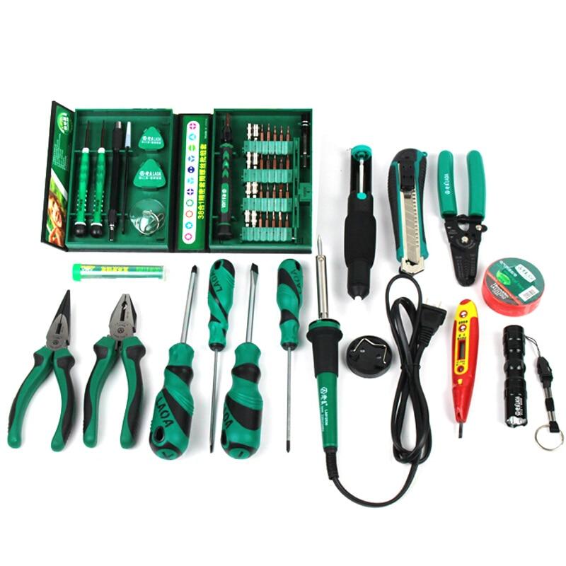 Soldering Set Handtools Set Utility Repairing 53pcs Screwdriver Set Repair Knife Electric LAOA Tool Pliers Iron