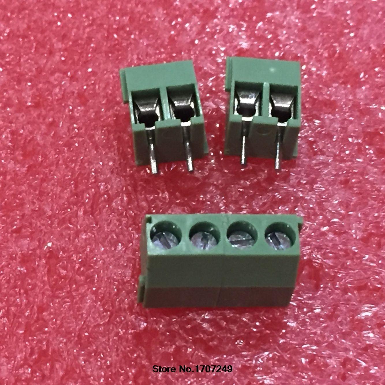 Analytisch 500 Stks Kf350-3.5-2p Kf350-2p Kf350 2pin 3.5mm Hoge Kwaliteit Milieu Koperen Voeten Straight Pin Pcb Schroefklemmenblok