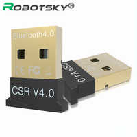 Mini USB Bluetooth V 4,0 de modo Dual Sem Fio Adaptador Dongle Bluetooth CSR 4,0 USB 2,0/3,0 Para Windows 10 8 XP Win 7 Vista 32/64