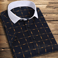 Free shipping short sleeve  Men's  shirts Brand Solid camisa masculina casual  Shirts High Quality  Plus Size M-5XL 7 colors