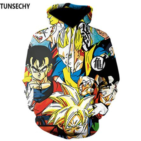 TUNSECHY Brand Dragon Ball 3D Hoodie Sweatshirts Men Women Hoodie Dragon Ball Z Anime Fashion Casual Tracksuits Boy Hooded 2