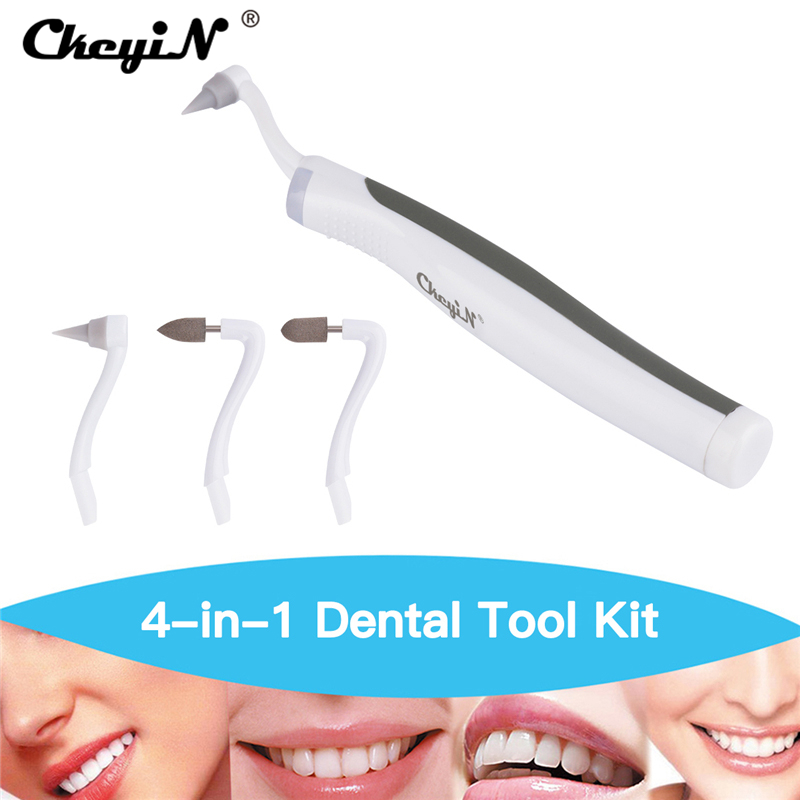 Multifunction Sonic Portable LED Dental Tool Oral Hygiene Care Clean Tooth Stain Eraser Plaque Remover 3 Heads Teeth Whitening  new personal care led oral teeth clean tool kits dental hygeine explorer dental mirror plaque remove tooth stain eraser