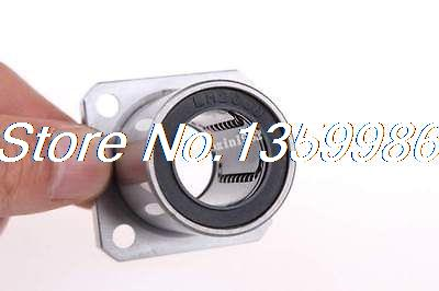 10pcs LMK20UU 20mm x 32mm x 42mm Flange Linear Ball Bearing
