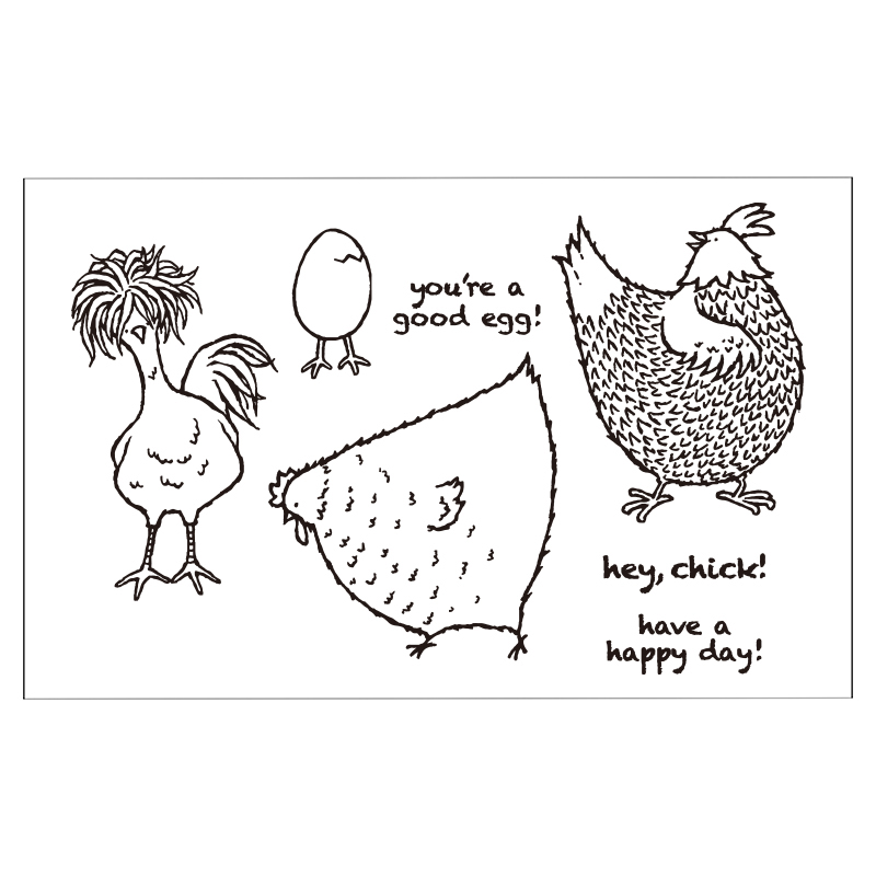 Chicken Animals Clear Silicone Rubber Stamp for DIY Scrapbooking/photo Album Decorative Craft Clear Stamp Chapter