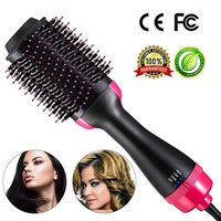 One Step Hair Dryer Styler Electric Straightening Brush Volumizer Hot Comb Straightener Large Hot Air Hair Brush 1000W 110 240V