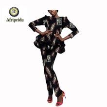 2019 women suit african print AFRIPRIDE dashiki bazin riche ankara private custom pure cotton casual S1826014