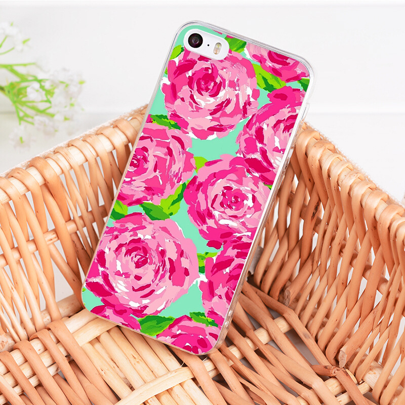 best loved 6e452 48180 For Iphone XR XS MAX 7 8 Plus Lilly Pulitzer Summer Flower Pink Flamingo  Rose Phone Iphone 7 8 6S Plus 5S SE