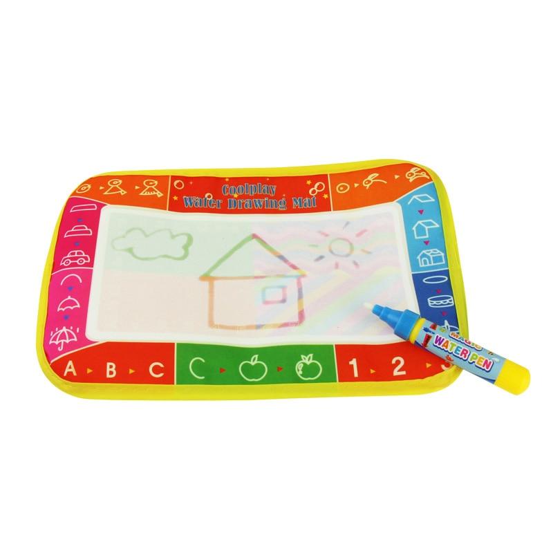 Детские Вода Мат Рисунок доска для рисования записи Doodle Magic ручка дети игрушка Подарки 25x16,5 см @ ZJF