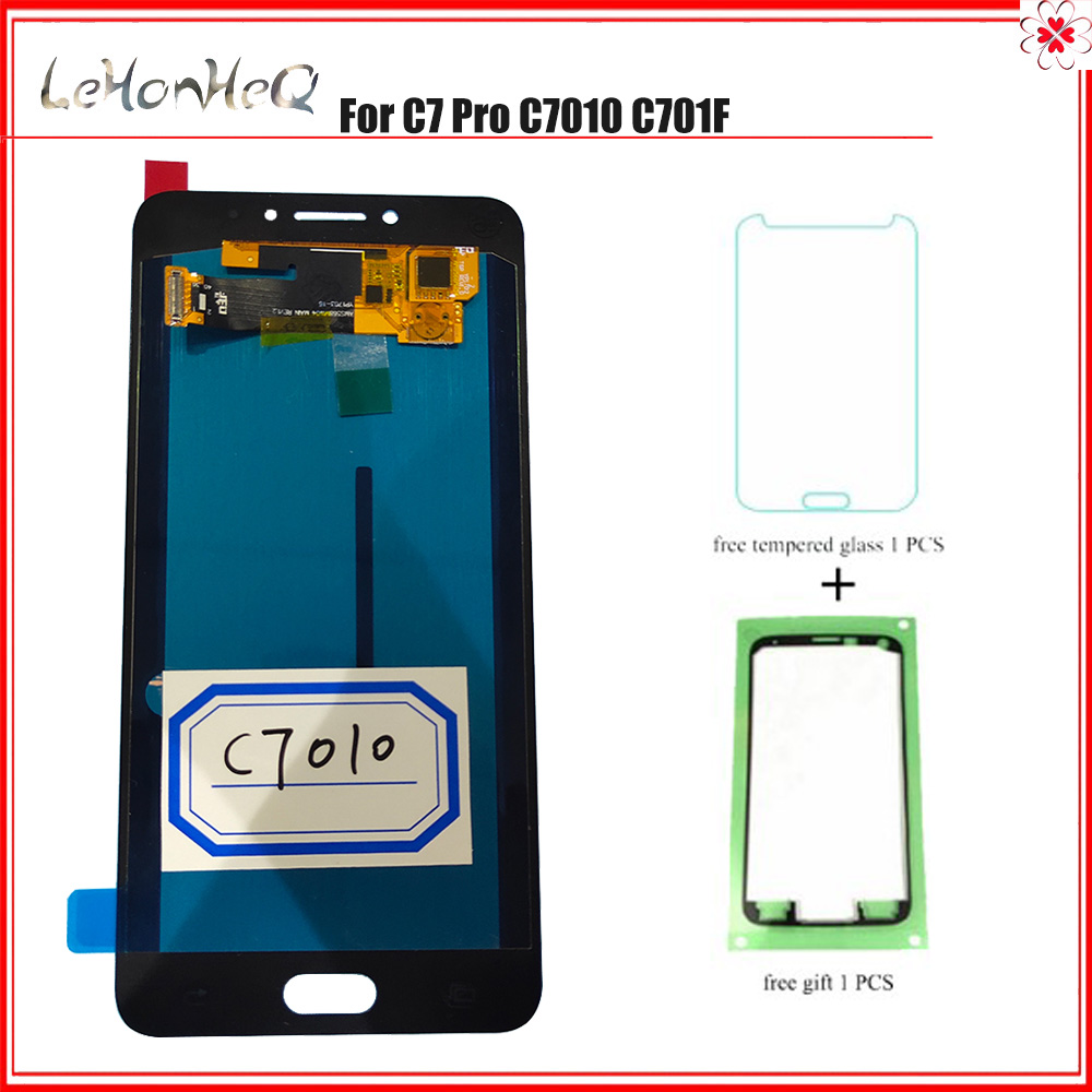 Test Original C7 Pro LCD For Samsung Galaxy C7 Pro C7010 LCD Display Touch Screen Digitizer Assembly For samsung C7 Pro Display