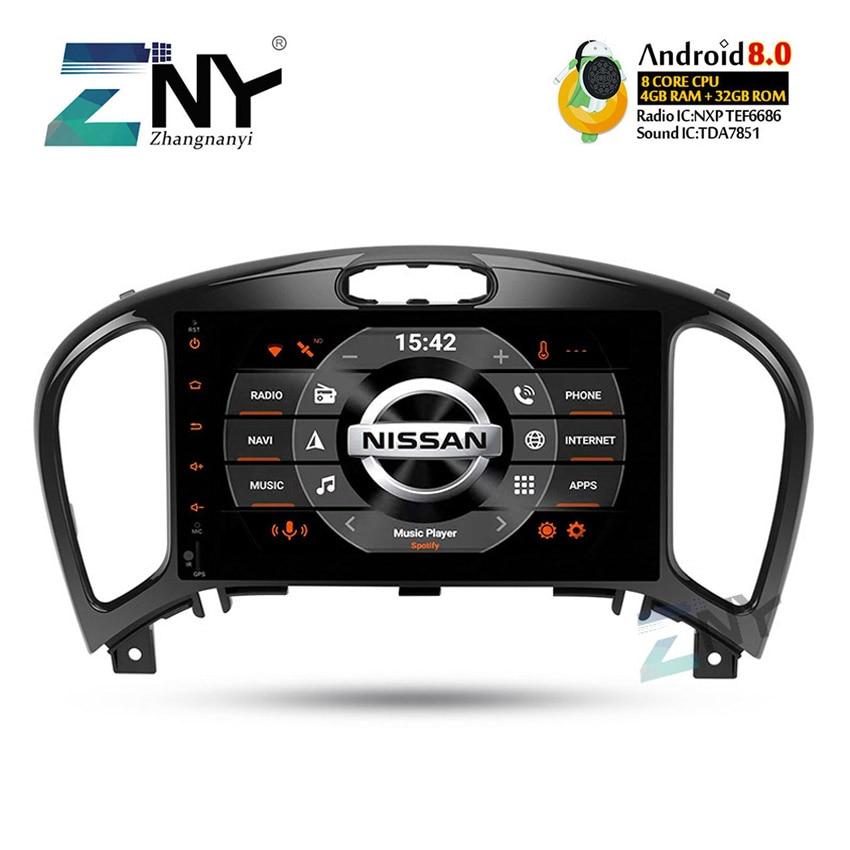 Android 8.0 dvd de voiture Stéréo 2 Din Autoradio Pour Nissan Juke Infiniti ESQ 8