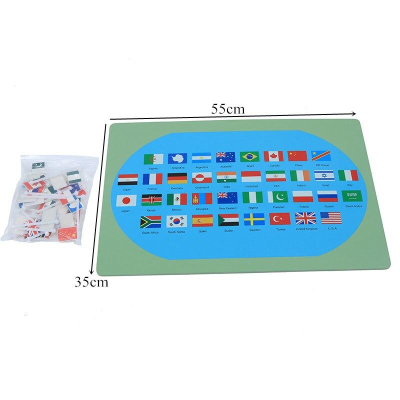 Bébé jouet Montessori drapeaux nationaux apprentissage et éducation éducation de la petite enfance enfants Brinquedos Juguetes - 5