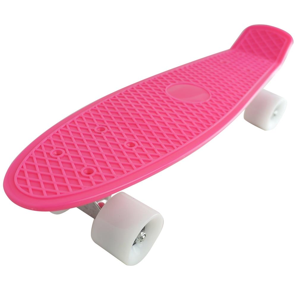 Plastic Cruiser Skateboard Pink Deck Complete Penny Size ...