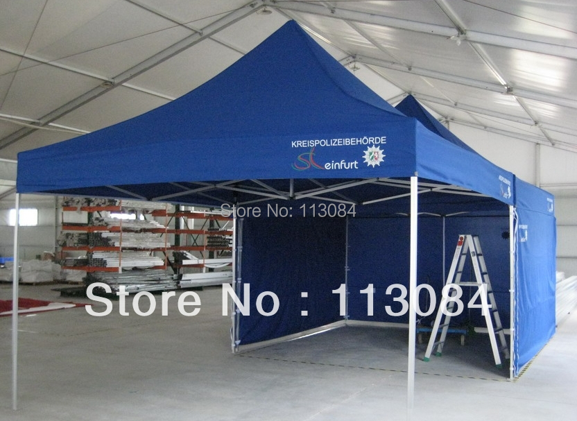 Бесплатная доставка Высокая усиленная Профессиональная Алюминиевая рама 4 м x 4 м большой шатер для вечеринок, события шатер, беседка навес с 3 полными стенками